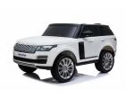 Mașină cu acumulator Land Rover (albă)