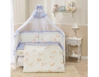 Комплект в кроватку Тиффани голубой ТМ Perina
